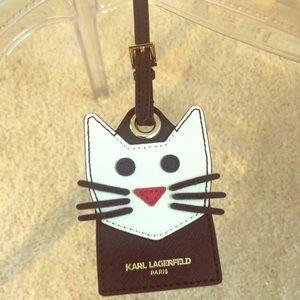 Karl Lagerfeld Luggage Tag New!